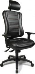 Topstar Bureaustoel - Verstelbare Armleuning - Stof - Zwart - Ergonomisch