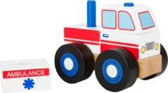 Witte Small Foot Company Houten Ambulance Bouwvoertuig - Small Foot