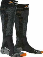 Antraciet-grijze X-socks Skisokken Carve Silver Polyamide Antraciet Mt 45-47