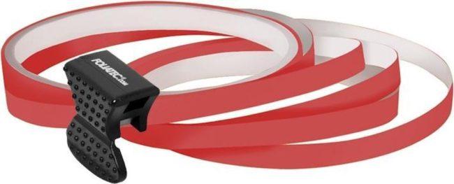 Afbeelding van Foliatec PIN Striping voor velgen incl. montage hulpstuk - neon rood - 4 strips 6mmx2,15meter & 1 testrol 6mmx40cm