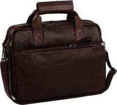 Bruine Cowboysbag The Chesterfield Brand Geneva Fietstas brown