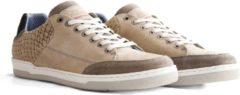 NoGRZ W.Burn - Leren Heren Sneaker - Taupe - Maat 45