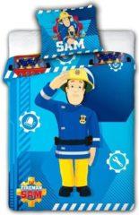 Blauwe Ledikant Baby Dekbedovertrekje - Brandweerman Sam - 100 x 135 cm
