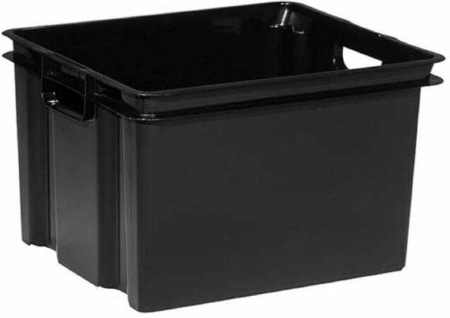 Afbeelding van Keter Vulcano - Opbergbox - 30 Liter - Zwart - 43x36x26cm - (Set van 6) En Yourkitchen E-kookboek - Heerlijke Smulrecepten
