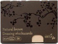 Naturelkleurige SMLT Haikukaarten A6 325gr 22 vel Natuurlijk Bruin