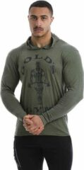 Donkergroene Gold's gym Muscle Joe Long Sleeve T-Shirt - Army Marl - M