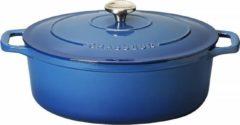 Blauwe Chasseur Ovale Stoofpan in Geëmailleerd Gietijzer Poseidon 1l - 17cm 4717 41