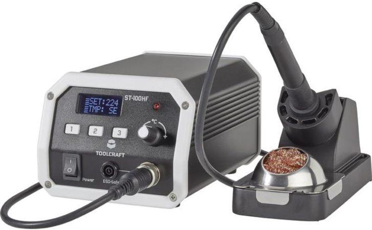 Afbeelding van Digitaal Hoogfrequent soldeerstation 100 W 50 tot 480 °C TOOLCRAFT ST-100 HF