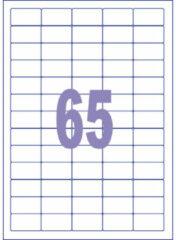 Witte Etiket ILK Kangaro 38,1x21,2mm - doos 25 vel 65 etiketten per v