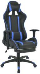VidaXL Sedia da Ufficio Racing Reclinabile con Poggiapiedi Blu