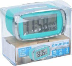 Grundig Digitale wekker/alarm klok blauw met kalender functie