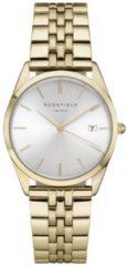 Rosefield Watches - The Ace Dames Horloge | Zilver/Goud | Roestvrijstalen band | Rond | Quartz uurwerk | Waterdicht | 3 ATM | Ø33 mm