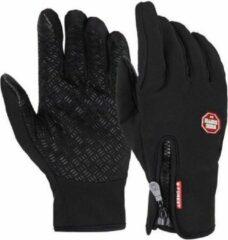 Zwarte Merkloos / Sans marque Waterafstotende Neopreen Fietshandschoenen – Maat L