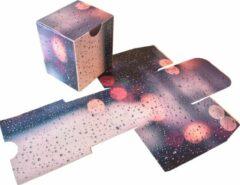 "Paarse Presentdoosjes.nl Presentdoosje kubus doosje ""Druppels"": 8 x 7 x 9cm (10 stuks)"