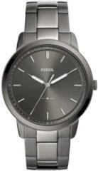 Grijze Fossil The Minimalist 3H Heren Horloge FS5459