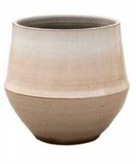 Beige D&M Deco Pot Fusion Nude ronde bloempot voor binnen 32x31 cm bruin