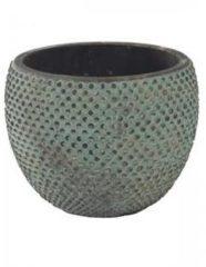 Blauwe Ter Steege Pot fay blue gold bloempot binnen 16 cm