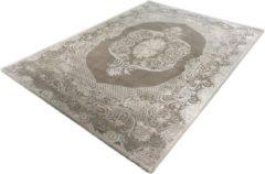 Merinos/karpet24.nl Vloerkleed - Klassiek Desing - Gebloemd - Grijs-80 x 300 cm