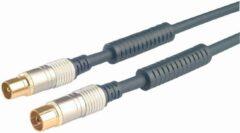 Blauwe Golden Note Premium Ziggo geschikt antenne coax kabel 1m