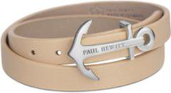 Paul Hewitt Wrap Bracelet PH-WB-S-22M - Armband - Leer - Bruin - 42,5 cm
