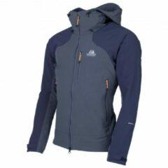 Mountain Equipment - Frontier Hooded Jacket - Softshelljack maat XXL, blauw/zwart