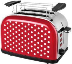 KALORIK Toaster TKG TO 1045 R Efbe-Schott ROT-WEISS-DOTS