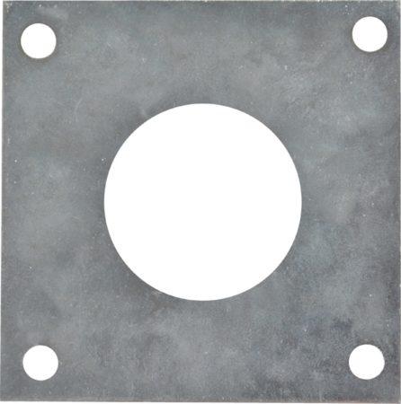Afbeelding van Zilveren ESSCHERT Koolmees 32mm invliegopening - Beschermingsplaat nestkastje - Grijs - 7,0x0,1x7,0 cm