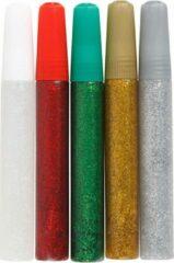 Goudkleurige Creotime Glitterlijm 10ml 5 Stuks