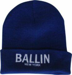 Ballin Est. 2013 unisex muts blauw wit geborduurd
