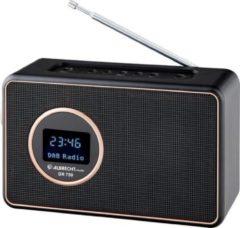 Zwarte Albrecht DR 750 digitale radio, DAB +/FM met muziekstreaming, geïntegreerde batterij 2000 mAh