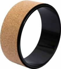 TSport Professioneel Yogawiel van Kurk- Yoga Wheel - Pilates Wiel - TPE ASB Draagkracht tot 150KG Zwart