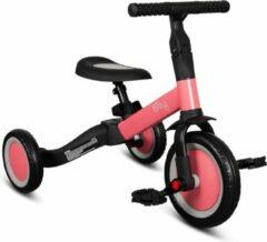Billy 4 in1 Driewieler - Loopfiets - Balance Bike - Fresa - Roze