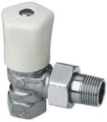 Heimeier radiator afsluiter Mikrotherm, uitvoering staartstuk/bu dr, haaks