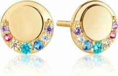 Goudkleurige Sif Jakobs PORTOFINO PICCOLO EARRINGS SJ-E12010-XCZ-SG