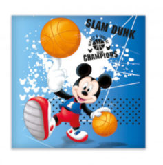 Disney pyjamakussen Mickey junior 40 x 40 cm polyester blauw