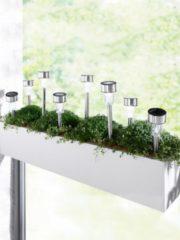 LED-Solar-Erdspieß-Set Näve Silber