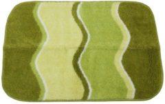 GRUND Badteppich grün wellig gestreift 60 x 90 cm