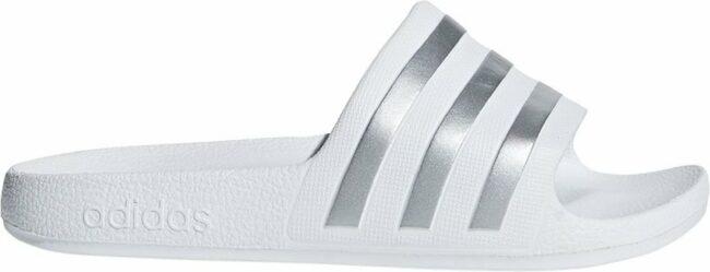 Afbeelding van Grijze Adidas Adilette Aqua Slippers Kinderen - Grey Two / Platin Met. / Grey Two - Maat 33