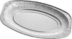 PackagingDirect Aluminium serveerschaal, presenteerschaal Ovaal 35cm - 100 stuks