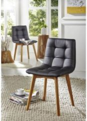 Stuhl BERLIN Massivmoebel24 schwarz