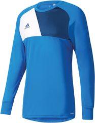 Blauwe Adidas Assita 17 GK Jersey Keepersshirt Heren Sportshirt - Maat M - Mannen - blauw/wit