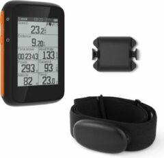 Oranje LHP BC200 Fietscomputer Draadloos 3-in-1 Bundel - Hartslagmeter Borstband - Cadanssensor - Kilometerteller GPS - 80+ Functies - 2.4 inch LCD Scherm - Bluetooth & ANT+