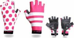 Merkloos / Sans marque Fietshandschoenen roze - zomer - dames - one size