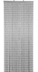 Zilveren Lesliliving Deurgordijn PVC Tube grijs 100x230cm, 86 strengen