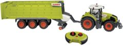 HAPPY PEOPLE Claas Axion 870 + Claas Cargos 9600 1:16 RC functiemodel voor beginners Landbouwvoertuig Incl. batterijen