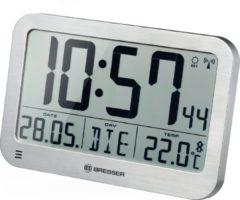 Bresser MyTime Wand- en Tafelklok met LCD-scherm –Zilver – 225x150mm