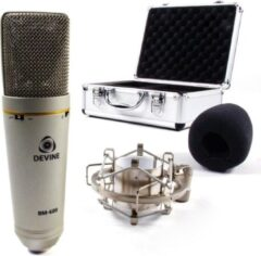 De BM-600 van Devine is een praktische condensator studiomicrofoon, voorzien van drie schakelbare richtkarakteristieken, een low-cut filter en zelfs een -10 dB pad. Ideaal voor vocalen en instrumenten.