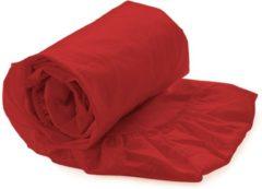 Rode Kardol & Verstraten Hoeslaken Satijn - 200x200 cm - Poppy Red