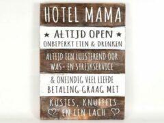 Naturelkleurige Creaties van hier Tekstbord Hotel Mama / moederdag / cadeau / mama - moeder - oma