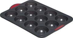 Rode 4Goodz Siliconen Bakvorm Halve Bollen met vaste randen - 35x23x3,5 cm